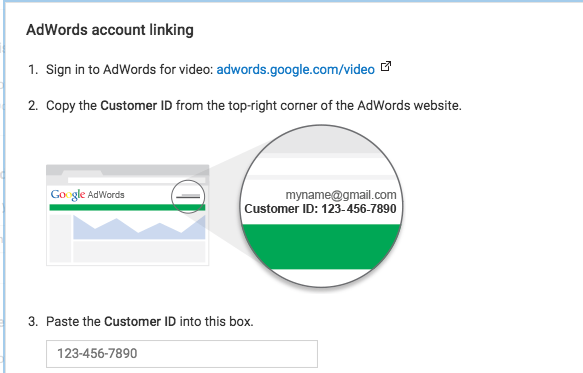 Linking YouTube Channel To Adwords Account Step 6