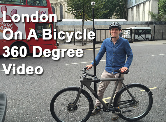 London on a bicycle 360 degree video