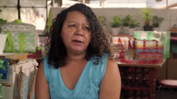 Woman giving an interview for the Coca Cola 5by20 documentary series produced by Bold Content