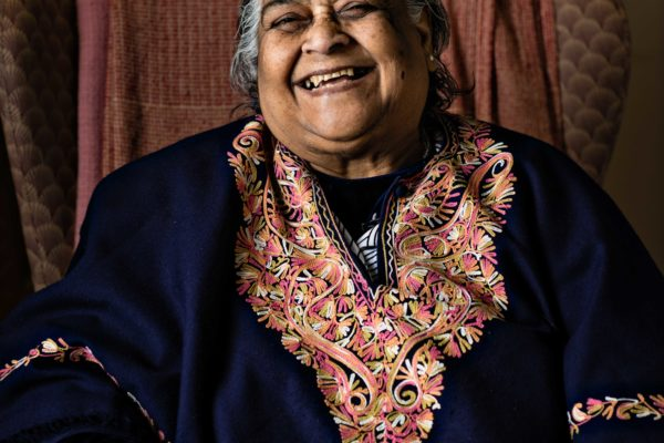 Old Indian Woman Laughing