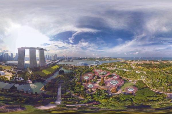 Futuristic image of future architecture