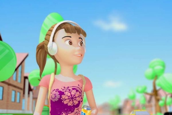 Coca Cola Recycling 3D Girl Animation