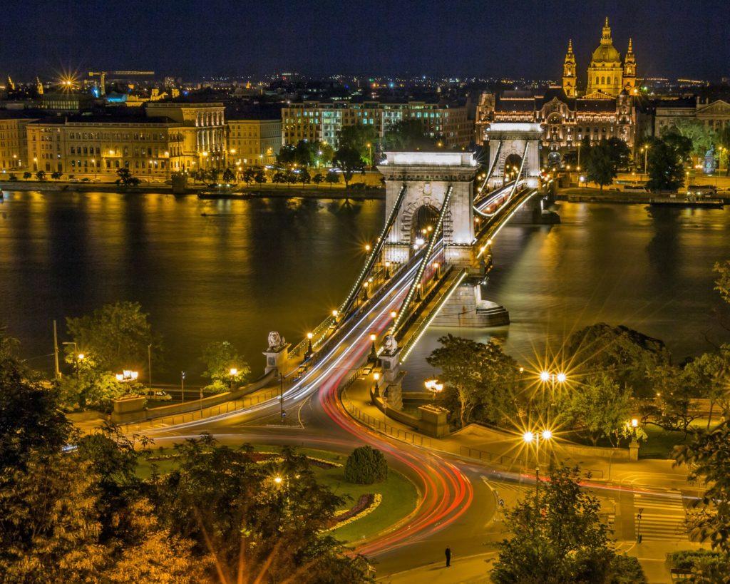 Slow Shutter Photograph of Hungary.