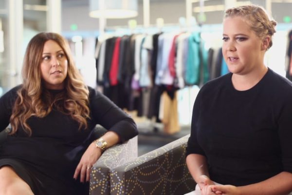 Amy Schumer giving an interview for Bold Content's Stylefund