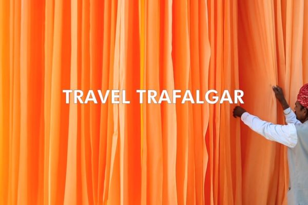 Travel Trafalgar Title Card From Bold Content's Trafalgar Brand Video