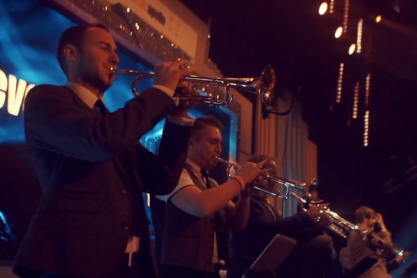 Trumpet players at the Eventim Apollo in London