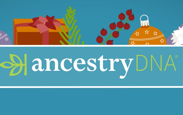 AncestryDNA Christmas illustration
