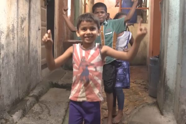 Kids dancing on the set of a Bold Content shoot