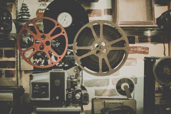 Old film rolls