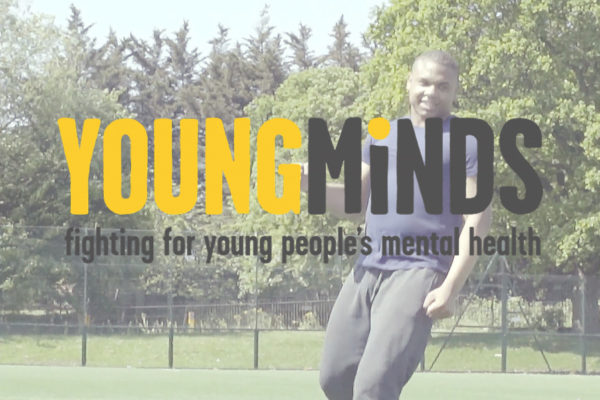 YoungMinds football with logo