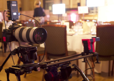 Camera Live Streaming on a slider with Teradek