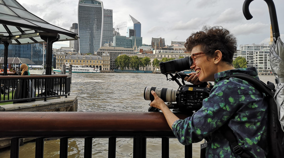 Self shooting director using the Sony FS7 camera for a Bold Content shoot