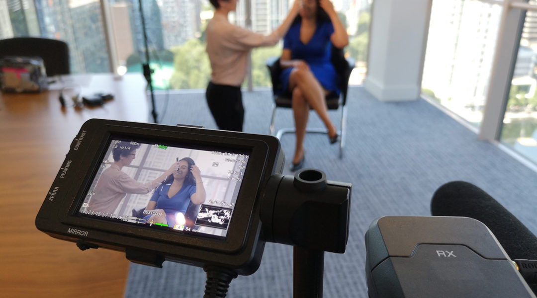 Behind the scenes at an interview shoot by Bold Content