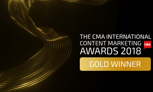 CMA International Content Marketing Awards Best Video Series 2018 trophy