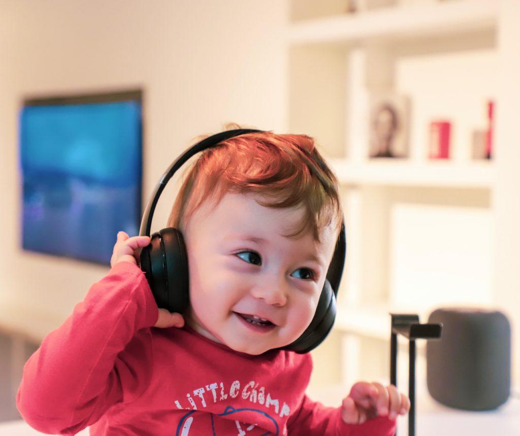 Toddler listening