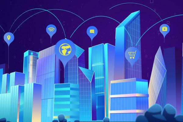 Future city animation