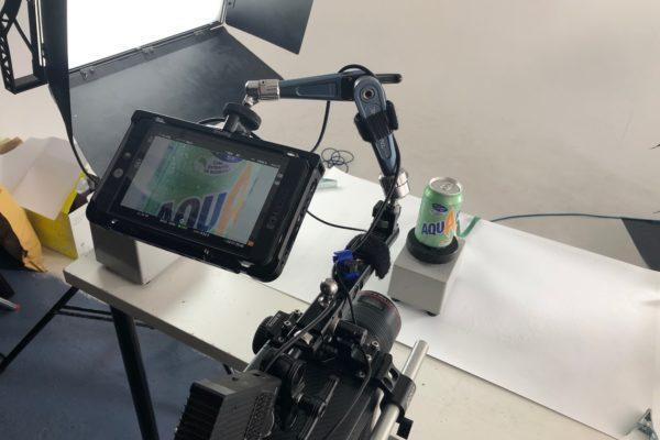 camera in product studio