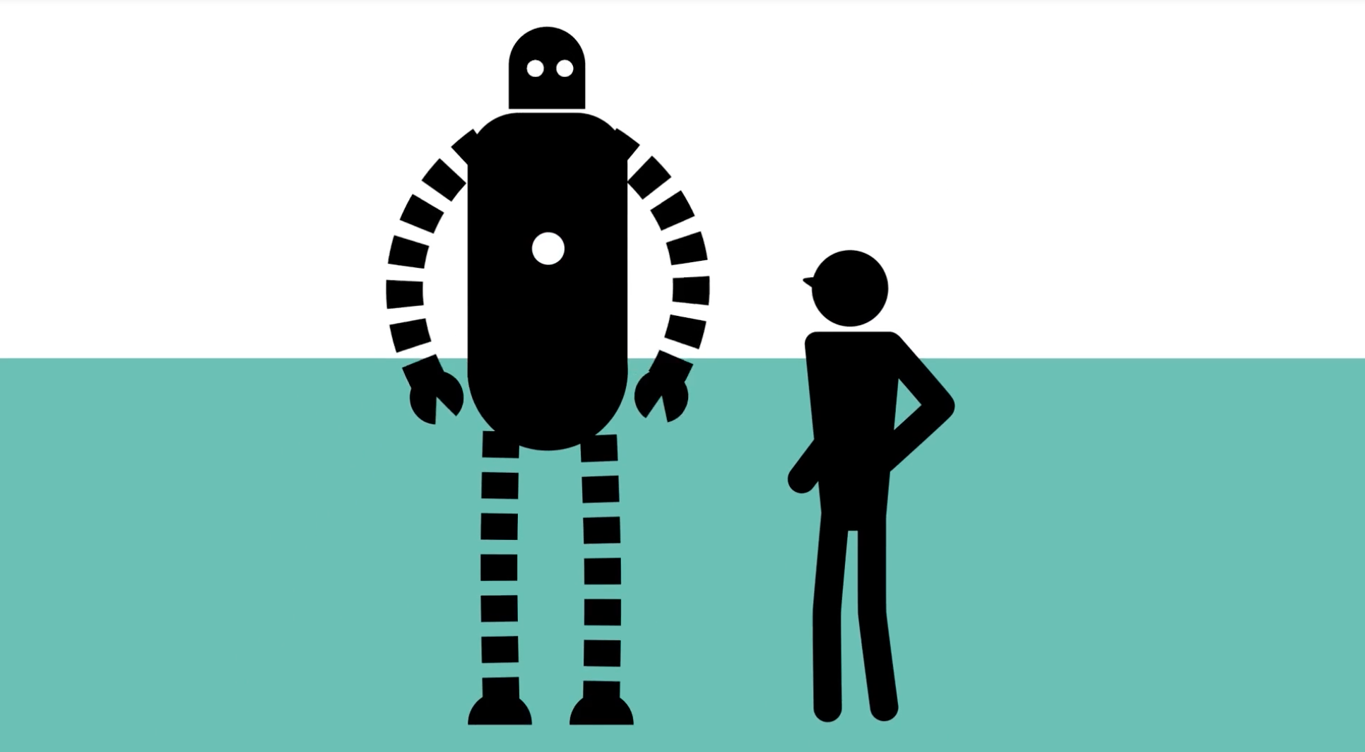 animation of man and robot
