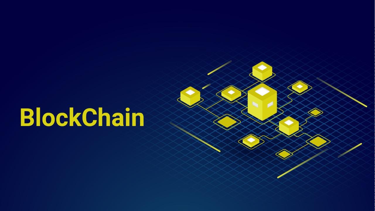 conceptual illustration of blockchain