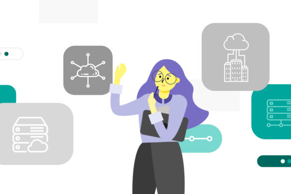 Illustration of a woman working