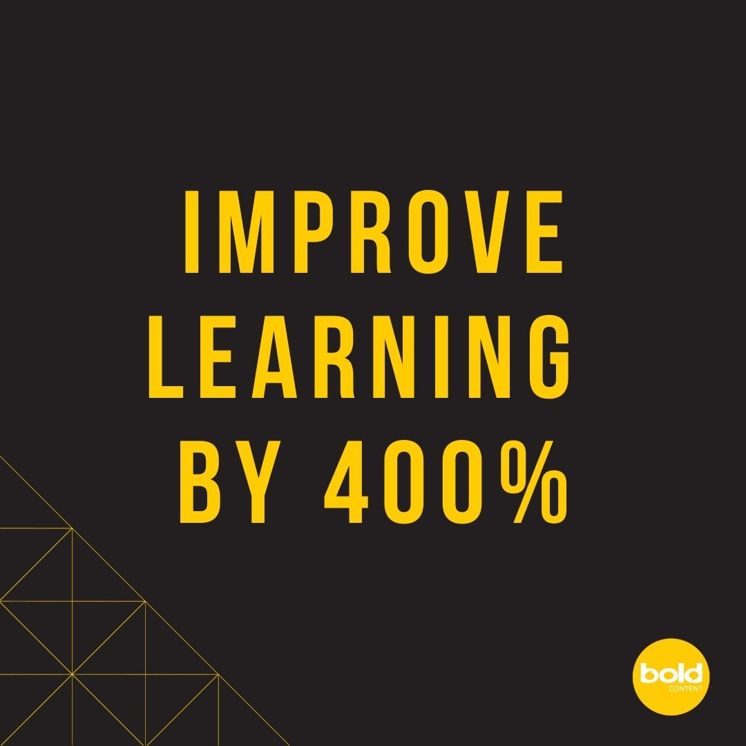 Improve learning by 400%